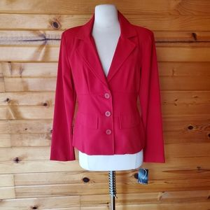 NWT 1990s Rampage Clothing Red Blazer